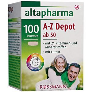 Vitamin tổng hợp Altapharma A-Z Depot ab 50 của Đức cho người từ 50 tuổi hộp 100 viên