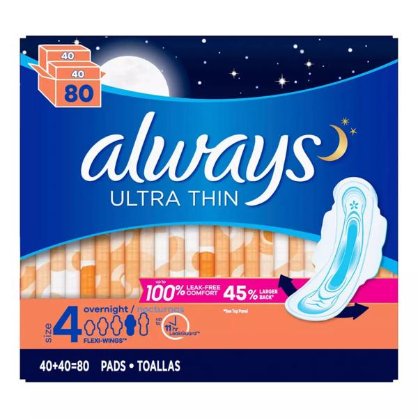 băng vệ sinh ban đêm Always Ultra Thin 80 miếng