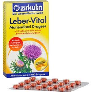 Viên uống bổ gan Zirkulin Leber-Vital của Đức hộp 60 viên