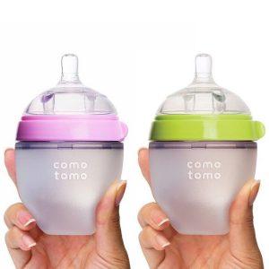 bình sữa silicon cổ rộng Comotomo 150ml