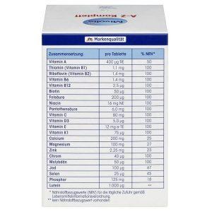 Vitamin tổng hợp Dm Mivolis A-Z Depot của Đức cho người dưới 50 tuổi hộp 100 viên