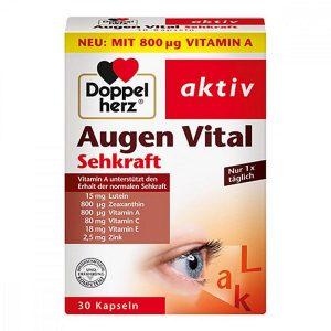 Viên bổ mắt Doppel herz Augen Vital Sehkraft của Đức hộp 30 viên