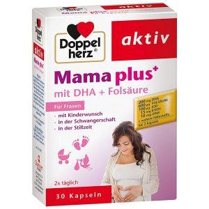 Vitamin tổng hợp cho bà bầu Doppelherz Mama Plus Mit Dha + Folsäure của Đức hộp 30 viên