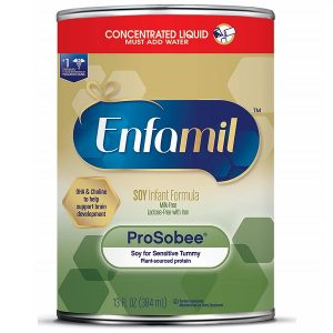 Sữa bột đậu lành Enfamil Prosobee Soy Infant Formula của Mỹ cho trẻ từ 0 đến 12 tháng dị ứng đạm sữa bò hộp 384g