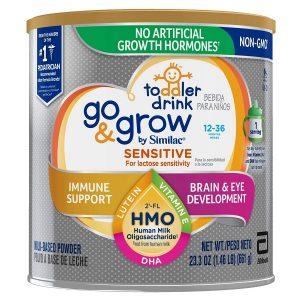Sữa bột Go & Grow By Similac Sensitive For Lactose Sensitivity của Mỹ cho trẻ từ 12 đến 36 tháng hộp 661g