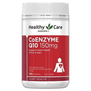 Viên bổ tim mạch Healthycare Coenzyme Q10 150mg của Úc lọ 100 viên