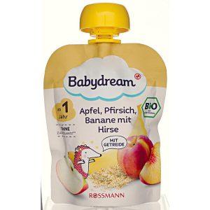trái cây nghiền Babydream cho trẻ trên 12 tháng tuổi của Đức vị táo
