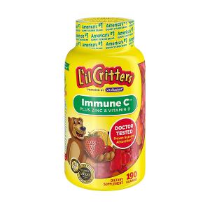 Kẹo dẻo gấu L'il Critters Immune C Plus Zinc & Vitamin D tăng sức đề kháng cho trẻ của Mỹ, lọ 190 viên.