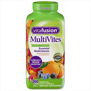 Kẹo dẻo bổ sung vitamin cho người lớn Vitafusion MultiVites Essential Multivitamin của Mỹ hộp 260 viên