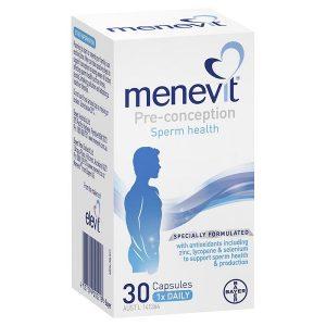 Viên hỗ trợ sức khỏe sinh sản nam Menevit Pre-Conception Sperm Health của Úc hộp 30 viên