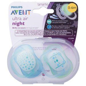 Ty ngậm thoáng khí Philips Avent Ultra Air Night cho bé từ 0 -6m