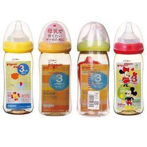 Bình sữa cổ rộng Pigeon Nhật Bản 240ml