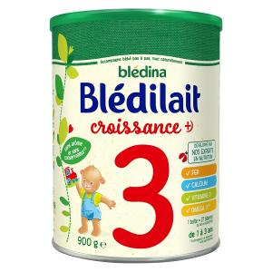 Sữa bột Blédina Blédilait Croissance số 3 của Pháp cho trẻ từ 1 tuổi trở lên hộp 900g