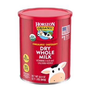 Sữa tươi nguyên kem dạng bột Horizon Organic Dry Whole Milk của Mỹ cho trẻ từ trên 1 tuổi hộp 960g