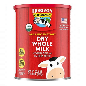 Sữa tươi nguyên kem dạng bột Horizon Organic Dry Whole Milk của Mỹ cho trẻ từ trên 1 tuổi hộp 870g