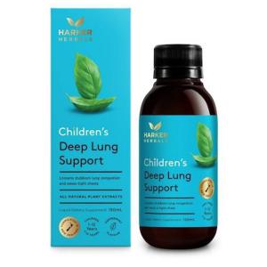 Siro bổ phế Harker Herbals Children's Deep Lung Support của NewZealand cho trẻ từ 1 tuổi lọ 150ml