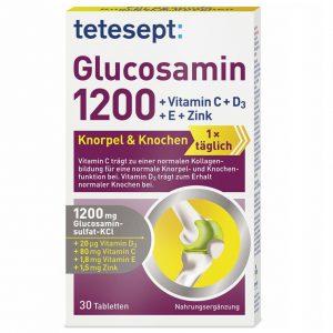 Viên bổ xương khớp Tetesept: Glucosamin 1200 của Đức hộp 30 viên