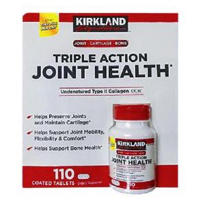 Viên bổ xương khớp Kirkland Triple Action Joint Health của Mỹ hỗ rẹo sụn, khớp, xương tối ưu hộp 110 viên