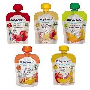 trái cây nghiền Babydream cho trẻ trên 12 tháng tuổi của Đức