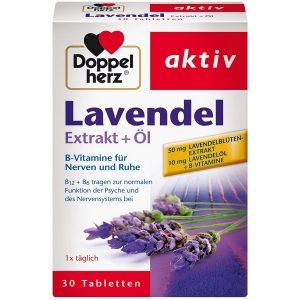 Viên hoa oải hương giúp ngủ ngon Doppelherz Aktiv Lavendel Extrakt + Öl của Đức hộp 30 viên