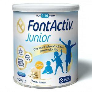 Sữa bột tăng trưởng chiều cao FontActiv Junior của Đức cho trẻ từ 1 tuổi đến 14 tuổi hộp 400g