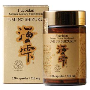 Viên ngăn ngừa và hỗ trợ điều trị ung thư Fucoidan Umi No Shizuku của Nhật Bản lọ 120 viên