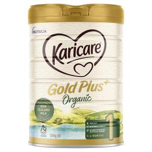 Sữa hữu cơ Karicare Gold Plus Organic số 1 của Úc cho trẻ từ 0 đến 6 tháng hộp 900g