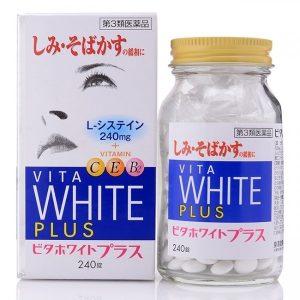Viên hỗ trợ trắng da vita White Plus của Nhật Bản lọ 240 viên