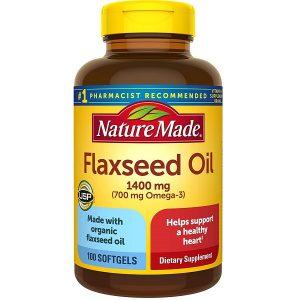 Dầu hạt lanh bổ sung Omega 3 6 9 Nature Made Flaxseed Oil 1400mg của Mỹ hộp 100 viên