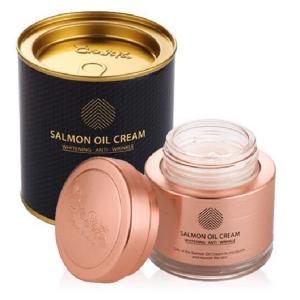 Kem dưỡng trắng da chống lão hóa chiết xuất dầu cá hồi Cre8skin Salmon Oil Cream của Hàn Quốc hộp 80g