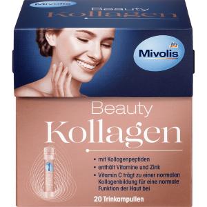 Collagen thuỷ phân Mivolis Beauty Kollagen Hyaluron khỏe đẹp da của Đức hộp 20 ống 25ml/ống