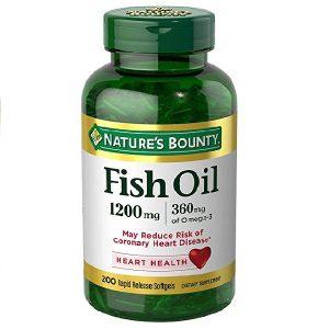 Dầu cá trợ tim, bổ mắt Nature's Bounty Fish Oil 1200mg 360mg Omega-3 của Mỹ lọ 200 viên