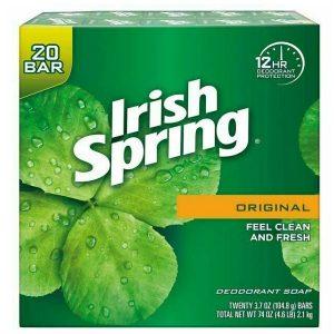 Xà bông diệt khuẩn Irish Spring Feel Clean And Fresh của Mỹ hộp 20 bánh