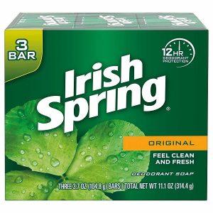 Xà bông diệt khuẩn Irish Spring Feel Clean And Fresh của Mỹ hộp 3 bánh