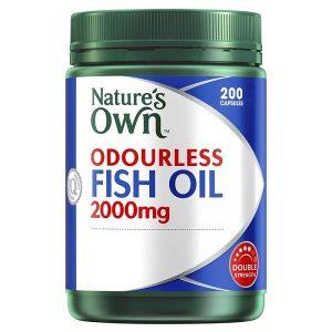 Dầu cá không mùi Nature's Own Odourless Fish Oil 1000mg của úc lọ 200 viên