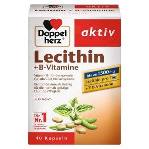 Viên mầm đậu lành Doppelherz Lecithin +B-Vitamine của Đức hộp 40 viên