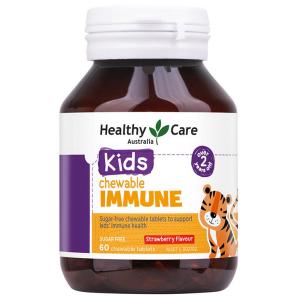Kẹo dẻo tăng sức đề kháng Healthy Care Kids Chewable Immune của Úc cho trẻ từ 2 tuổi lọ 60 viên