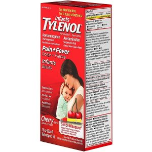 Siro giảm đau hạ sốt Infants' Tylenol Pain + Fever của Mỹ dành cho trẻ từ 0 đến 3 tuổi lọ 60ml