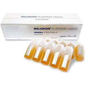 Nhau thai ngựa Melsmon Platinum Liquid Placenta của Nhật Bản hộp 30 ống