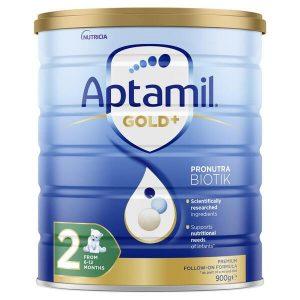 Sữa aptamil Gold+ số 2 cho trẻ từ 6 đến 12 tháng 900 của Úc