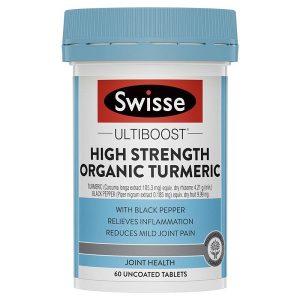 Viên bổ xương khớp Swisse Ultiboost High Strength Organic Turmeric của Úc lọ 60 viên