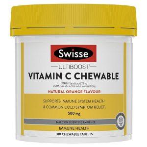 Viên nhai vitamin C Swisse Ultiboost Vitamin C Chewable của Úc lọ 310 viên