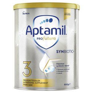 Sữa bột Aptamil Profutura Synbiotic số 3 của Úc cho trẻ từ 1 đến 3 tuổi hộp 900g