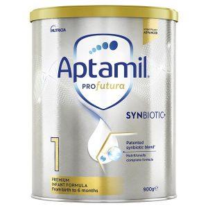 Sữa bột Aptamil Profutura Synbiotic số 1 của Úc cho trẻ từ 0 đến 6 tháng hộp 900g