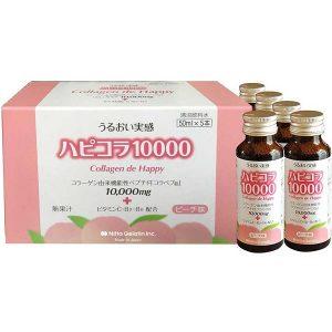 Collagen dạng nước Collagen De Happy 10000mg của Nhật Bản hộp 10 chai