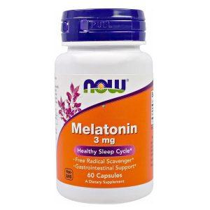 Viên hỗ trợ ngủ ngon Now Melatonin 3mg 60 viên