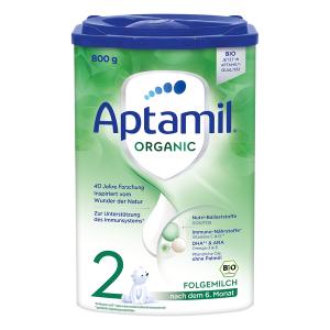sữa Aptamil Organic số 2 của Đức cho bé trên 6 tháng tuổi