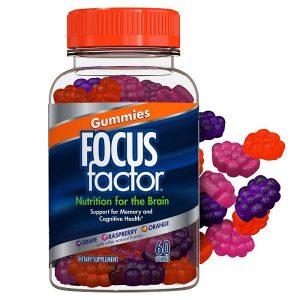 Kẹo dẻo giúp tăng cường trí não Gummies Focus Factor lọ 100 viên