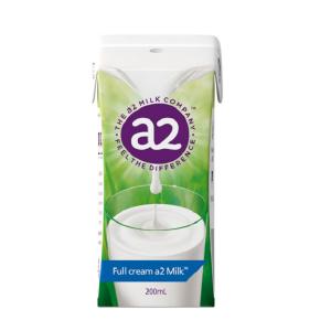 Sữa tươi A2 nguyên kem Full Cream Milk của Úc cho trẻ từ 3 tuổi, 200ml (24 hộp/thùng)
