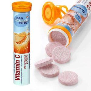 Viên sủi Vitamin C Das Gesunde Plus của Đức lọ 20 viên sủi